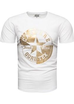 Koszulka męska biała Recea Recea wyprzedaż Recea.pl - kod rabatowy