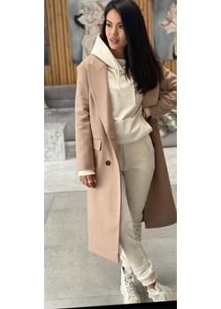 Elegancki płaszcz w kolorze camelowym lafemmeboutique.pl - kod rabatowy