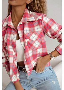 Koszula w kratę z flaneli Isadora różowa Shopaholics Dream SHOPAHOLIC`S DREAM - kod rabatowy
