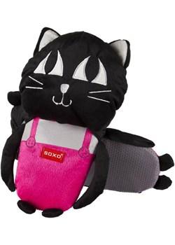 Kapcie damskie SOXO duży czarny kotek sklep-soxo rozowy poliester - kod rabatowy
