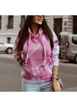 Bluza O'LA VOGA TIE DYE różowa Olavoga Neli Fashion - kod rabatowy