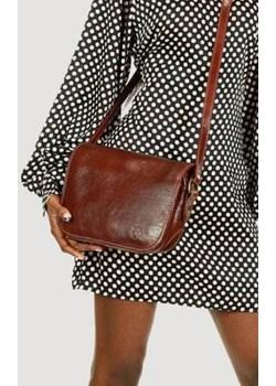 DESTINY - Włoska torebka na długim pasku MAZZINI brązowa Mazzini brazowy wyprzedaż merg.pl  - kod rabatowy
