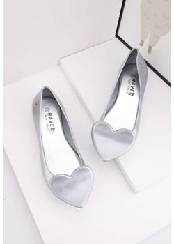 Balerinki-meliski srebrne 14 Aleta Yourshoes wyprzedaż YourShoes - kod rabatowy