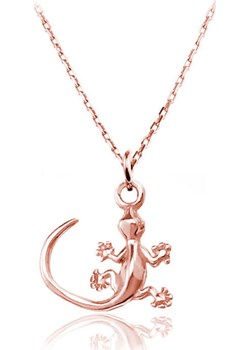 Naszyjnik jaszczurka gekon - rose gold Lian Art Lian Art - kod rabatowy
