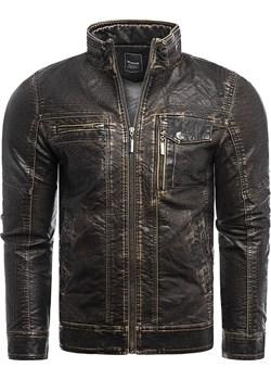 Męska kurtka skórzana HT1371 Risardi promocyjna cena Risardi - kod rabatowy