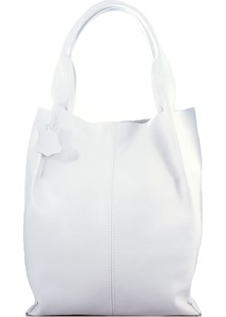 Skórzana Biała torebka/shopper/aktówka wyprzedaż TrendyTorebki - kod rabatowy