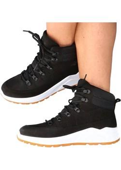 Skórzane buty za kostkę - 4F MADE IN POLAND H4L21-252/21S CZARNE Tymoteo.pl - sklep obuwniczy - kod rabatowy