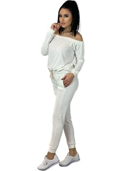 Komplet dres welurowy biały S.Moriss Paris - kod rabatowy