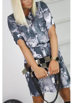 Sukienka koszulowa moro z wiązaniem La Blanche Paris promocyjna cena - kod rabatowy