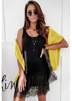 Sukienka halka czarna koronka Paris wyprzedaż - kod rabatowy
