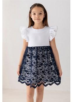 Koronkowa sukienka dla dziewczynki granatowa 110 Wiosna/Lato Wizytowe Myprincess / Lily Grey MKA GROUP - kod rabatowy