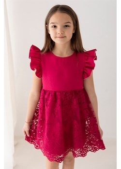 Koronkowa sukienka dla dziewczynki malinowa QUEEN 110 Wiosna/Lato Wizytowe Myprincess / Lily Grey MKA GROUP - kod rabatowy