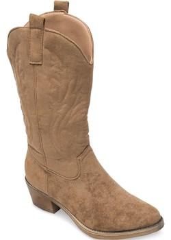 Kowbojki damskie Ideal Shoes MR-1881 Khaki  Ideal Shoes twojeobuwie.pl - kod rabatowy