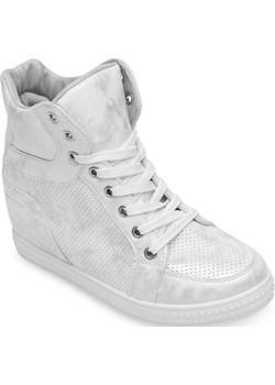 Sneakersy damskie N/M NO001 Srebrne   okazyjna cena twojeobuwie.pl  - kod rabatowy