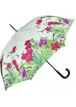 Orchidee - Parasol długi ze skórzaną rączką parasole-miadora-pl zielony długie - kod rabatowy
