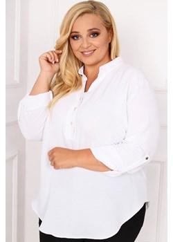 Biała Koszula TONI Plus Size TONO - kod rabatowy
