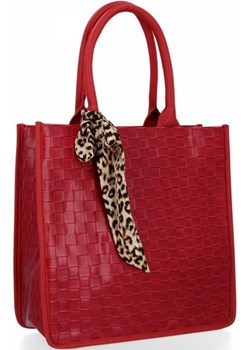 Klasyczna torebka damska Herisson Czerwona Herisson torbs.pl - kod rabatowy