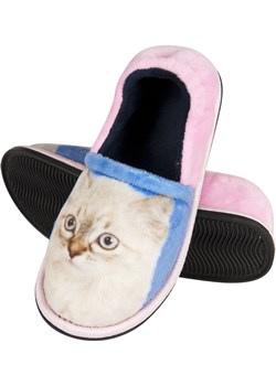 Kapcie zwierzaki dla dzieci SOXO foto kotek, dziewczęce wyprzedaż Sklep SOXO - kod rabatowy