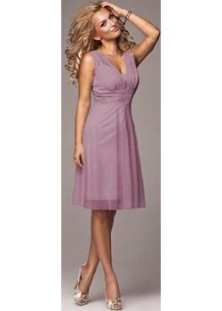 Sukienka Koronkowa Róż Marselini Marselini WygodnaModa - kod rabatowy
