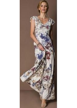 OFELIA długa sukienka w kwiaty na wesela Risca 40 Risca RiscaShop wyprzedaż - kod rabatowy