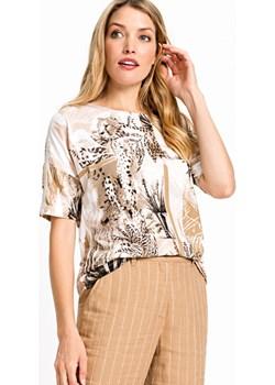 Bluzka damska we wzory Safari Allure 11103909 Kremowy 40 Olsen Olsen - kod rabatowy