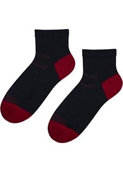 skarpetki z wełny merynos do trekkingu czarno-czerwone Regina Socks Estera Shop - kod rabatowy