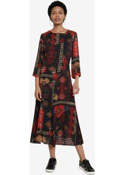 Desigual Sukienka Czarny Czerwony Desigual BIBLOO - kod rabatowy