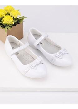 Balerinki białe lakierowane 1 Dai Yourshoes okazyjna cena YourShoes - kod rabatowy