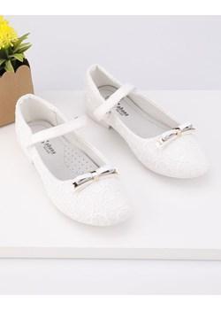Balerinki białe 1Ysbail Yourshoes YourShoes wyprzedaż - kod rabatowy