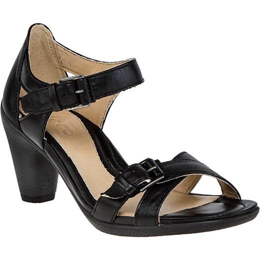 ECCO Sculptured 65 Sandal Czarne Skórzane Sandały Damskie