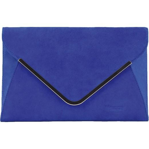 a889e99aa4277 Niebieska torebka zamszowa kazar-com niebieski damskie w Domodi