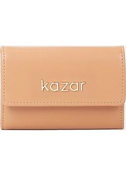 Jasnobrązowy portfel damski Kazar Kazar - kod rabatowy