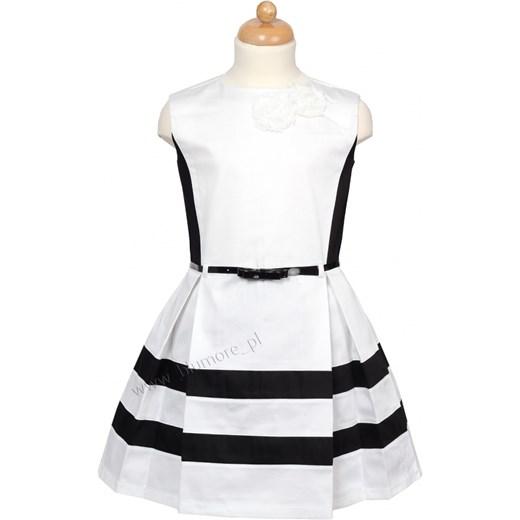 3cb4cf5598 Elegancka sukienka dla dziewczynki 122 - 158 Arleta blumore-pl bialy  dziewczęce ...