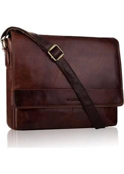Skórzana męska torba na ramię tbs-316 brązowa - betlewski GENTLE-MAN - kod rabatowy