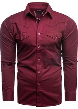 Koszula długi rękaw  Valentine bordo Risardi Risardi wyprzedaż - kod rabatowy