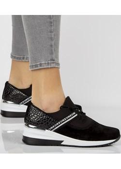Skórzane sneakersy Filippo DP1388 BK czarne Filippo promocja ButyButy.pl - kod rabatowy