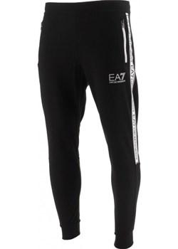 EMPORIO ARMANI EA7 męskie spodnie dresowe BLACK okazja EITALIA - kod rabatowy