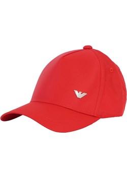 EMPORIO ARMANI efektowna czapka z daszkiem RED 2020 Emporio Armani EITALIA - kod rabatowy