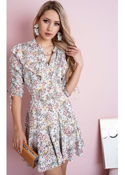 Wzorzysta sukienka AURORA - szara Stella Vera - kod rabatowy
