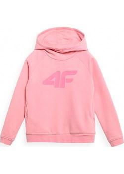 Dziewczęca bluza z kapturem 4F JBLD002A-56S Różowy 140 an-sport - kod rabatowy