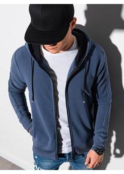Bluza męska rozpinana z kapturem B1157 - niebieska ombre - kod rabatowy