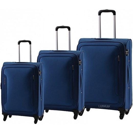 403594b3cc9ec Komplet walizek na kółkach Carlton Aspire - super lekkie - niebieski  lux4u-pl granatowy Akcesoria