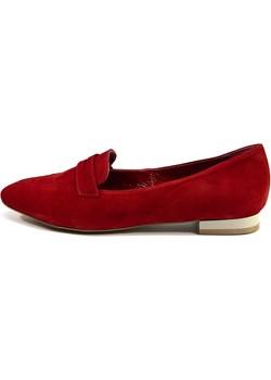 Czerwono burgundowe mokasyny kopyto La Leggera H2020 Manufakturaobuwia ManufakturaObuwia - kod rabatowy