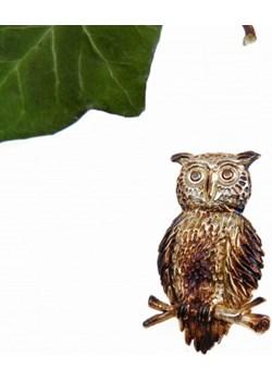 Broszka sowa średnia brąz Venus Galeria Venus Galeria - Magiczny Ogród Biżuterii Srebrnej - kod rabatowy