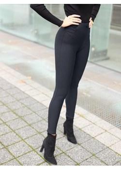 Spodnie Alice - czarne legginsy z wysokim stanem BiancaLoren.pl - kod rabatowy