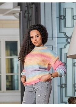 Tęczowy sweter wiązany Arcobaleno BiancaLoren.pl - kod rabatowy