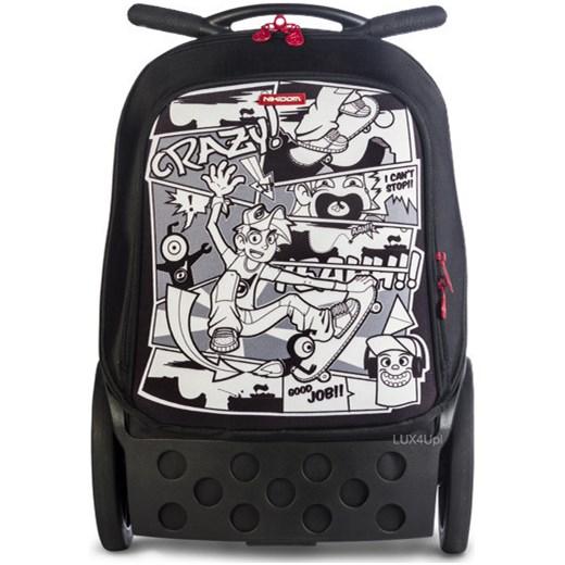 10aa6ff7ec021 Innowacyjny plecak szkolny na kółkach KOMIKS Nikidom Roller - czerwony  lux4u-pl czarny Akcesoria