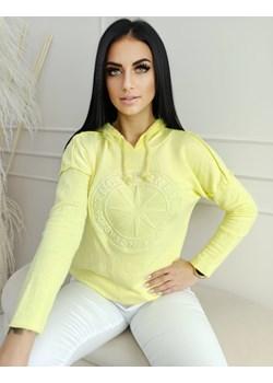 Bluza z Kapturem postrzępiona Cytrynowa Versada okazyjna cena Versada - kod rabatowy