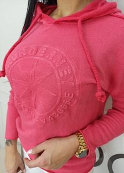 Bluza z Kapturem postrzępiona Różowa Versada wyprzedaż Versada - kod rabatowy
