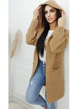 Długi Sweter z kieszeniami Camel Versada wyprzedaż Versada - kod rabatowy